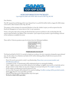 2020 AGM Notice