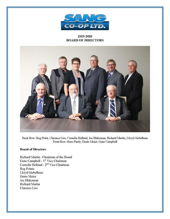 2020 AGM Director List