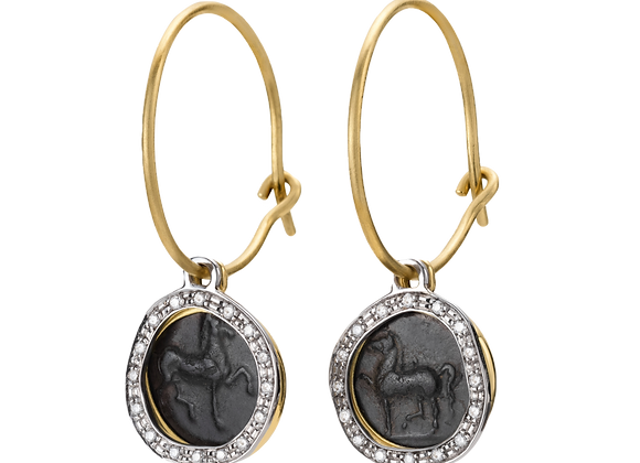 HORSES HOOP EARRINGS