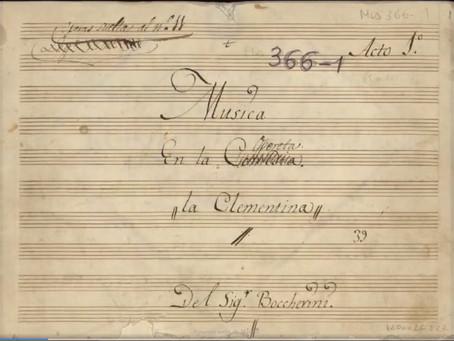 Opereta La Clementina, de Boccherini