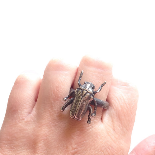 Scarab Beetle Insect Ring
