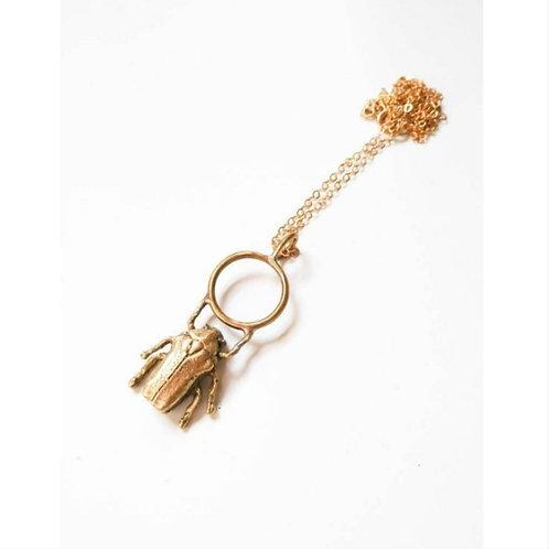 Scarab Beetle Pendant Necklace