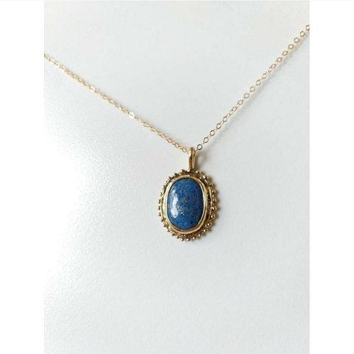 Lapis lazuli bronze necklace