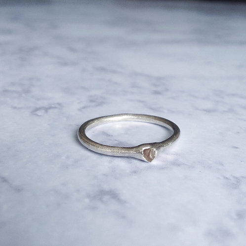 Raw, Grey Conflict Free Diamond Stacker Ring