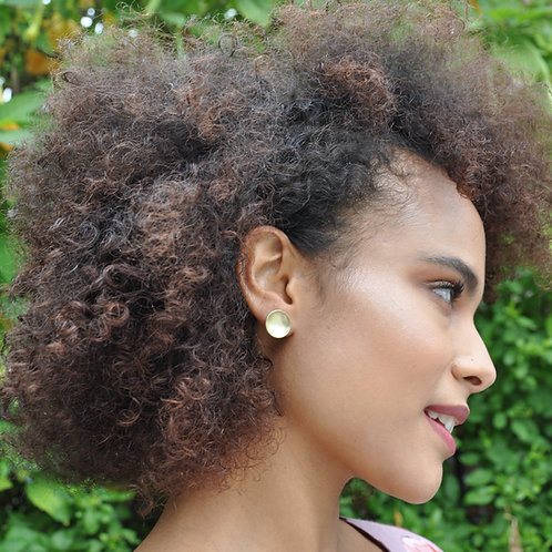 Sunny Studs - Flat Circle Minimal Earrings