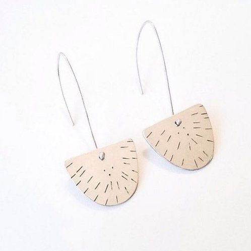Decorative Stamped Half Circle Earrings