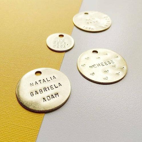 1.5 Inch Custom Stamped Brass Keychain