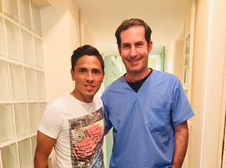 With Atromitos FC Captain, Javier Umbides