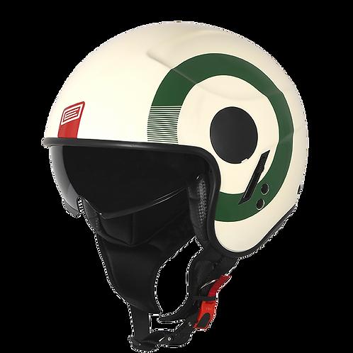 SIERRA ROUND MATT GREEN - RED - WHITE
