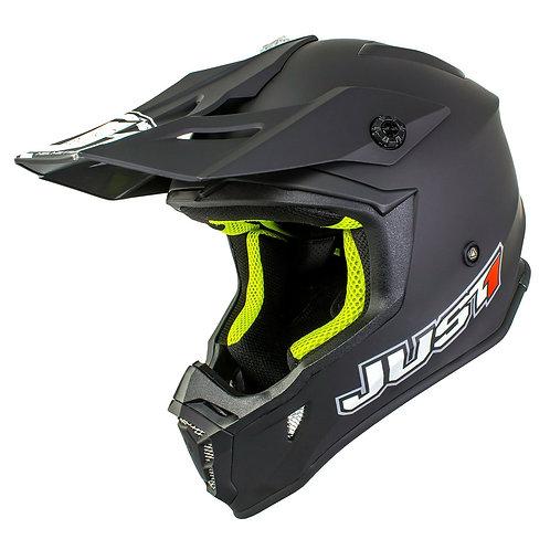 Just1 J38 MX Capacete preto sólido Matt