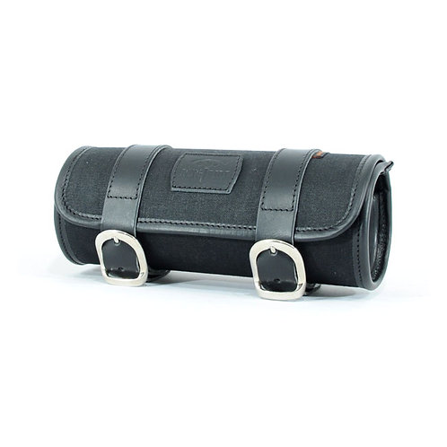 LONGRIDE, CLASSIC TOOL ROLL WAXED COTTON. BLACK