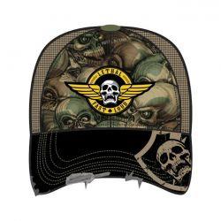 LT, MEN'S TRUCKER HAT ARMY SKULL CAMO