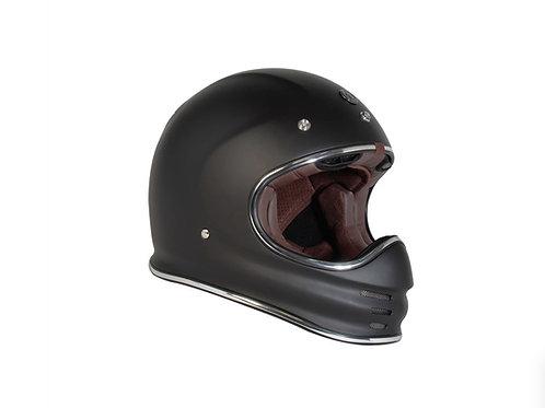 Capacete T-3 Torc Retro MX Helmet Flat Black