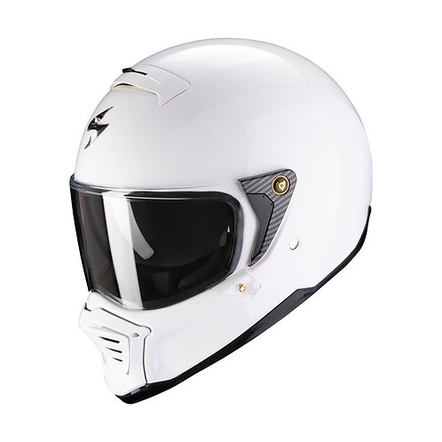 SCORPION EXO-FIGHTER SOLID HELMET WHITE