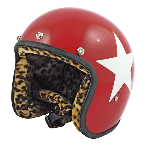 CAPACETE BANDIT STAR JET, RED W/WHITE STAR