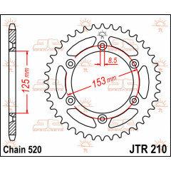 CREMALHEIRA 520 40D JT HONDA CR125R/CR250R