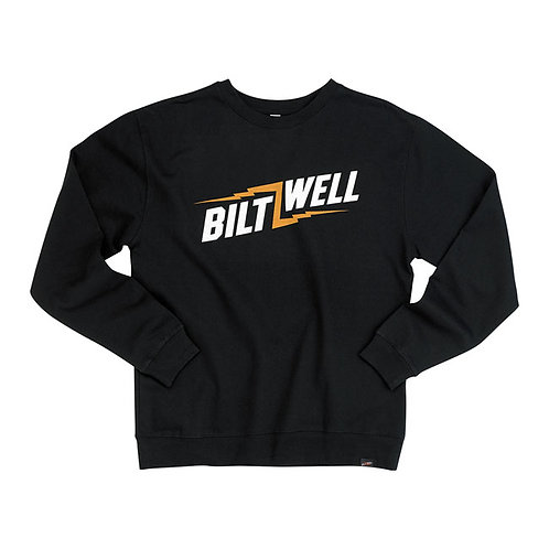 BILTWELL BOLTS CREW NECK SWEATSHIRT BLACK