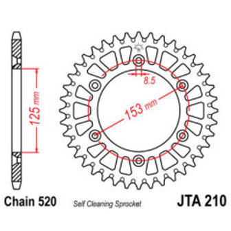 CREMALHEIRA 520 48D ALUMINIO (JTA210-48) JT