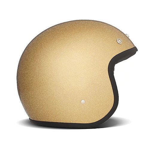 CAPACETE DMD VINTAGE GLITTER GOLD ECE APPR.
