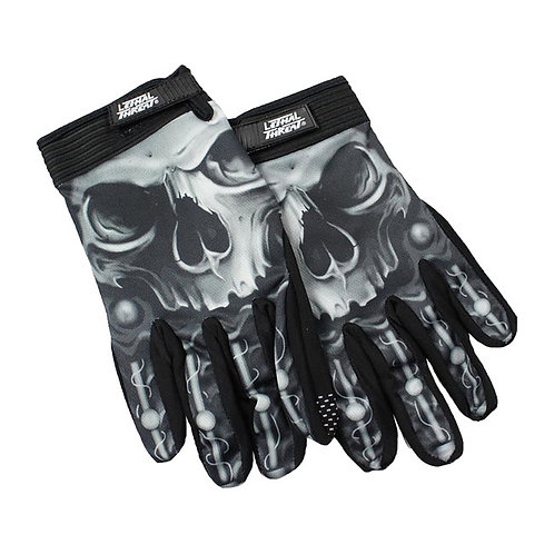 LUVAS LT BIOMECHANICAL SKULL GLOVES BLACK