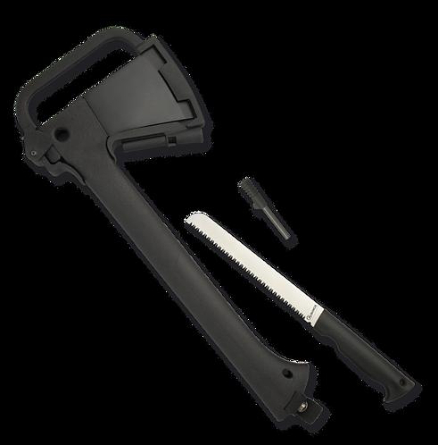 Albainox machado com sílex e serra.