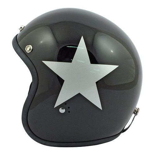 CAPACETE BANDIT STAR JET HELMET BLACK/SILVER STAR