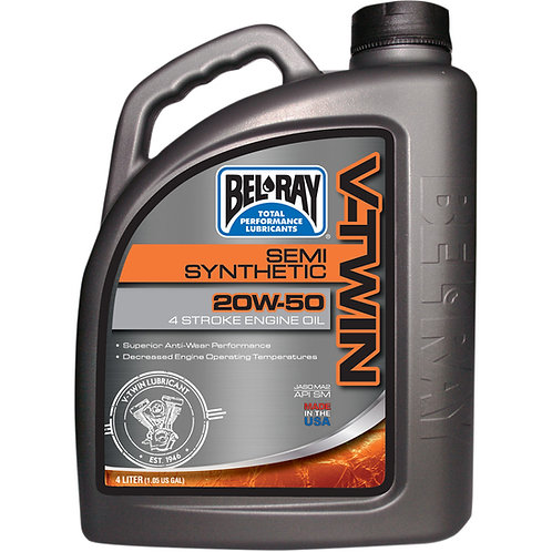 BEL-RAY ENGINE OIL VTWIN 20W-50 4 LITER (HARLEY)