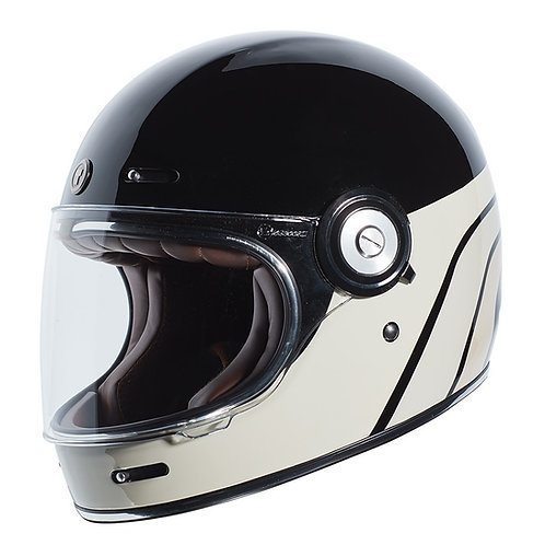 Capacete T-1 Dreamliner Tan Torc Retro Full Face Helmet Gloss Black