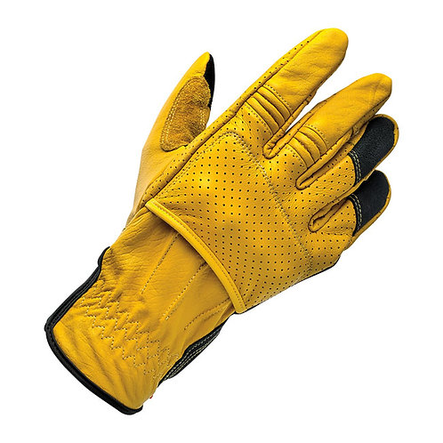 BILTWELL BORREGO GLOVES GOLD/BLACK CE APPR.