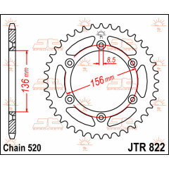 CREMALHEIRA SUZUKI RM 250cc/400cc DR350CC 1994-OUTRAS 520 X 44D JT
