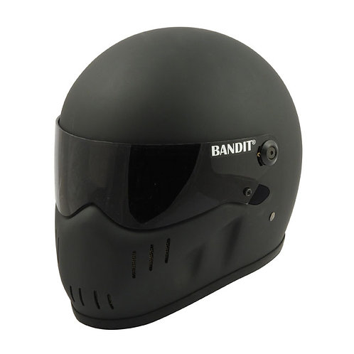 BANDIT XXR HELMET, FLAT BLACK FIBER GLASS