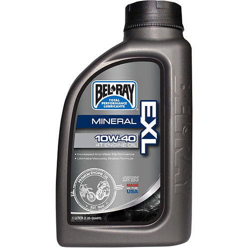 BEL-RAY EXL MINERAL 4-STROKE ENGINE OIL 10W-40 1 LITER