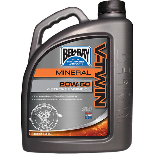 BEL-RAY ENGINE OIL VTWIN 20W-50 4 LITER