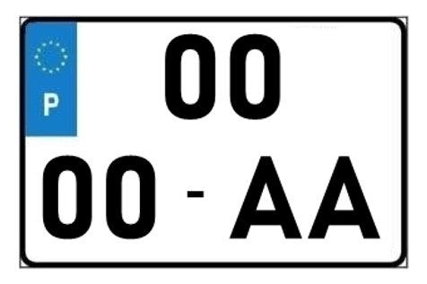 14x22cm Matrícula Quadrada Acrílica Novas de 2020