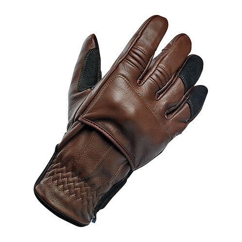 BILTWELL BELDEN GLOVES CHOCOLATE/BLACK CE APPR.