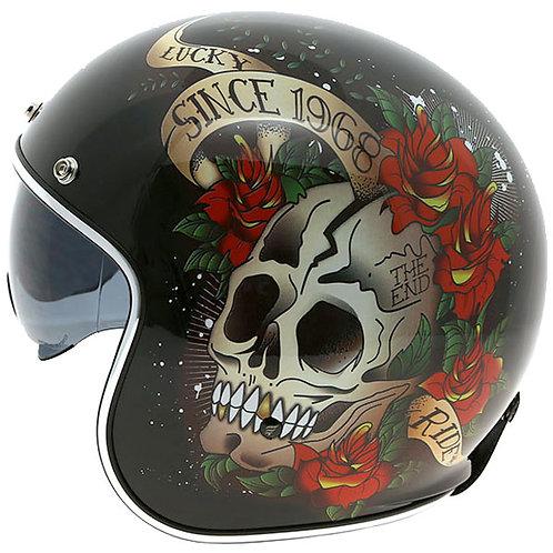 Capacete Mt Le Mans 2 SV Skull&Roses
