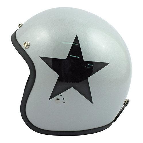 CAPACETE BANDIT STAR JET SILVER/BLACK STAR