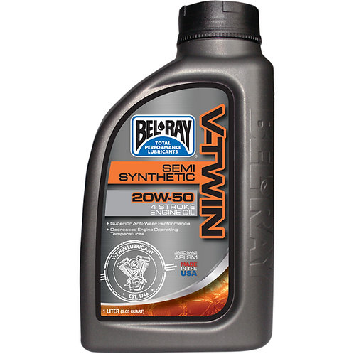 BEL-RAY ENGINE OIL VTWIN 20W-50 1 LITER (HARLEY)