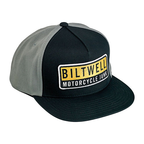 BILTWELL JUNKER SNAPBACK CAP BLACK/GREY/YELLOW