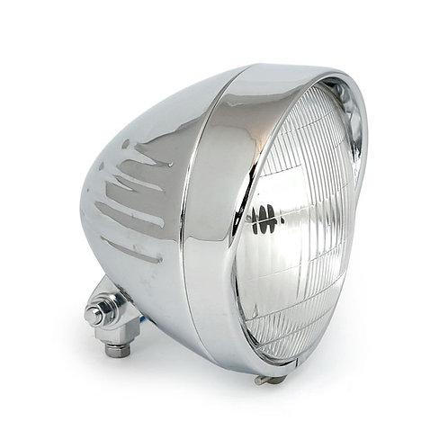 5-3/4 INCH 14CM HEADLAMP, RIBBED BULLET VISOR
