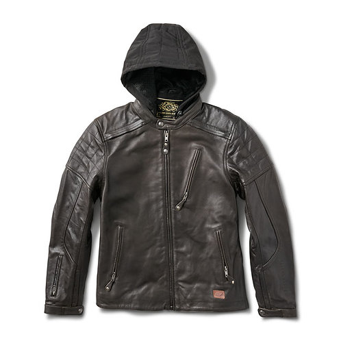 ROLAND SANDS DESIGN JAGGER LEATHER JACKET - BLACK