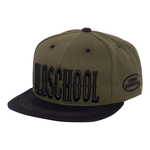 KING KEROSIN FLAT BRIM CAP OLDSCHOOL GREEN/BLACK