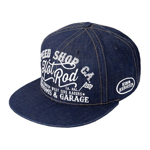 KING KEROSIN HOT ROD CAP DENIM BLUE