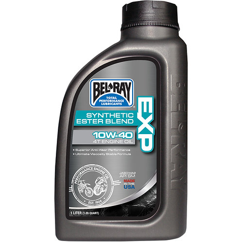 Bel Ray  BEL-RAY EXP SEMI-SYNTHETIC ESTER BLEND 4-STROKE ENGINE OIL 10W-40 1 LIT