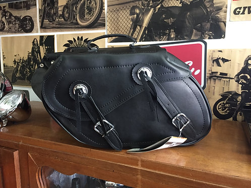 HIGHWAY 1 SADDLEBAGS FAUX LEATHER 2X10 L