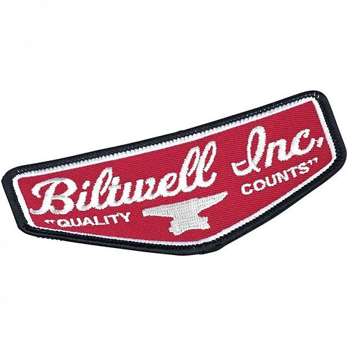 """SHIELD PATCH 4.5"""" - BLACK/RED/WHITE"""