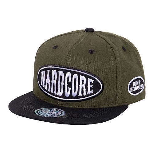 KING KEROSIN FLAT BRIM CAP HARDCORE GREEN /BLACK