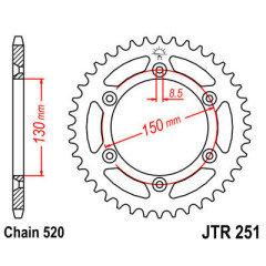 CREMALHEIRA 520 47D (JTR251.47ZBK) YAMAHA YZ 250 [99-17] PRETO JT