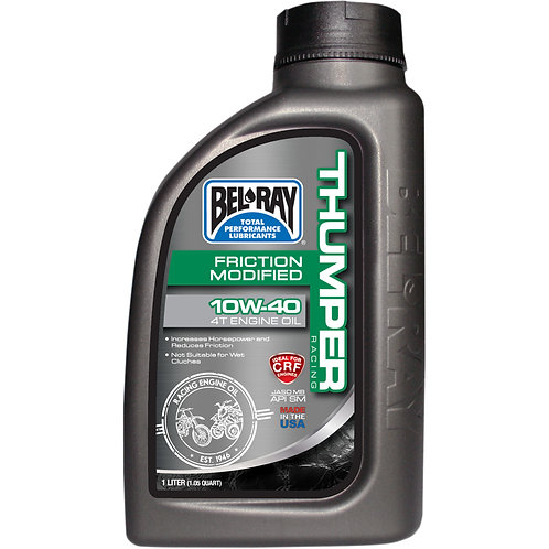 BEL-RAY FRICTION MODIFIED THUMPER RACING 4-STROKE ENGINE OIL 10W-40 1 LITER