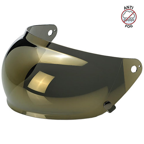 GRINGO S ANTI-FOG BUBBLE SHIELD - GOLD MIRROR